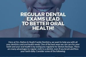 Regular Dental Exams Lead to Better Oral Health! [infographic]